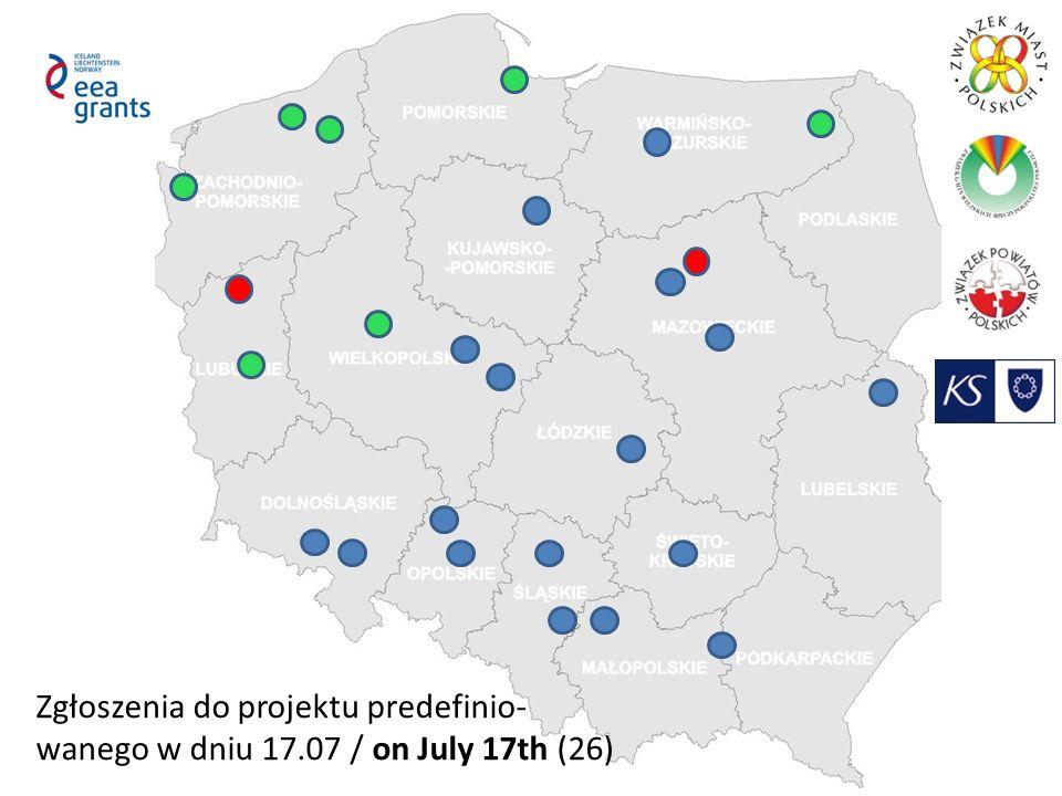 Zgłoszenia do projektu predefinio- wanego w dniu 17.07 / on July 17th (26)