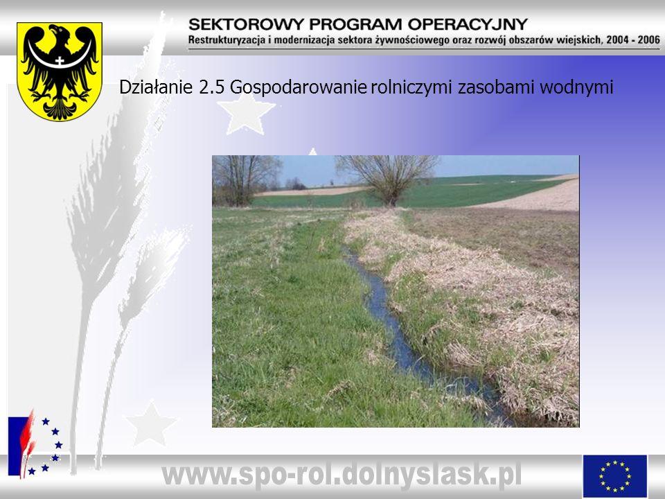 Działanie 2.5 Gospodarowanie rolniczymi zasobami wodnymi
