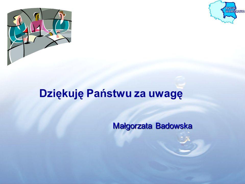 Dziękuję Państwu za uwagę Małgorzata Badowska