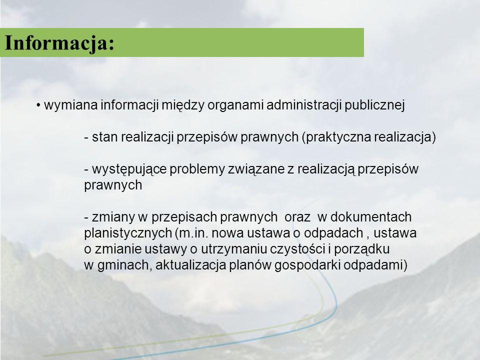 Informacja: wymiana informacji między organami administracji publicznej - stan realizacji przepisów prawnych (praktyczna realizacja) - występujące pro