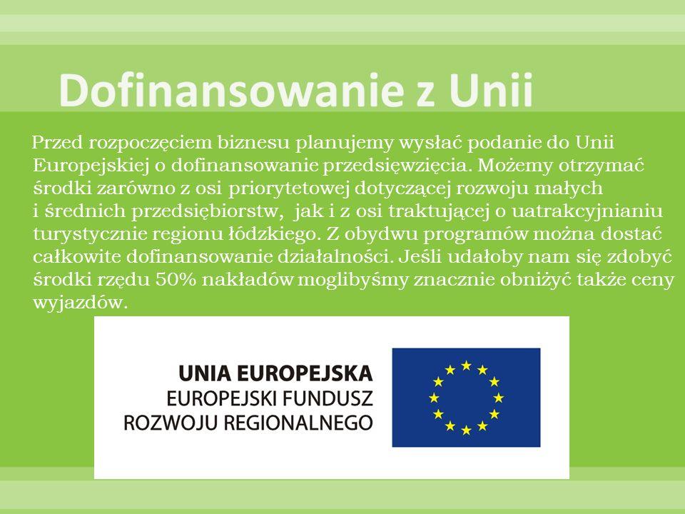 Przed rozpoczęciem biznesu planujemy wysłać podanie do Unii Europejskiej o dofinansowanie przedsięwzięcia. Możemy otrzymać środki zarówno z osi priory