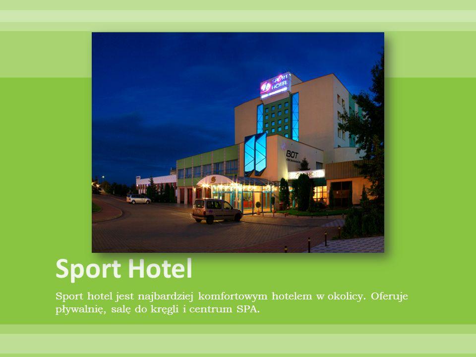 Sport hotel jest najbardziej komfortowym hotelem w okolicy. Oferuje pływalnię, salę do kręgli i centrum SPA.