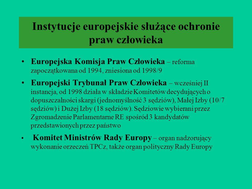 System Rady Europy Europejska Konwencja o Ochronie Praw Człowieka i Podstawowych Wolności (Europejska Konwencja Praw Człowieka), przyjęta 4 11 1950 w