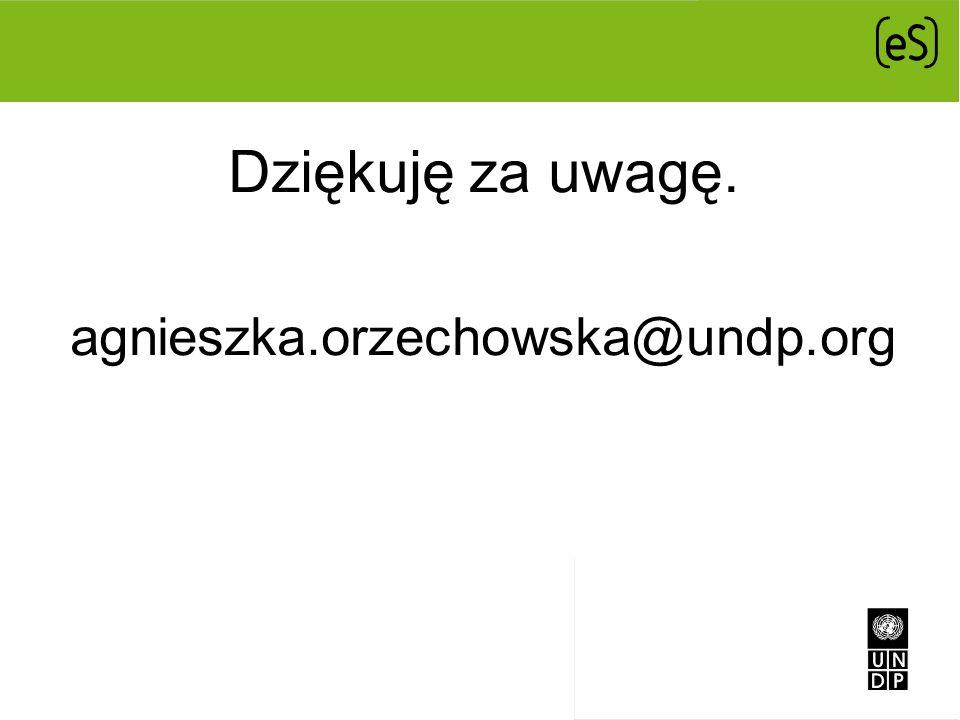 Dziękuję za uwagę. agnieszka.orzechowska@undp.org