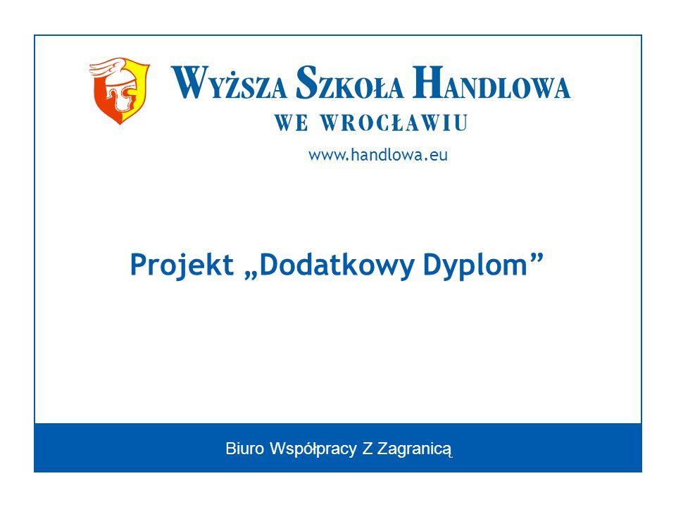 Biuro Współpracy Z Zagranicą Projekt Dodatkowy Dyplom www.handlowa.eu