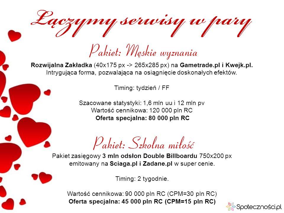 Pakiet zasięgowy 3 mln odsłon Double Billboardu 750x200 px emitowany na Sciaga.pl i Zadane.pl w super cenie. Timing: 2 tygodnie. Wartość cennikowa: 90