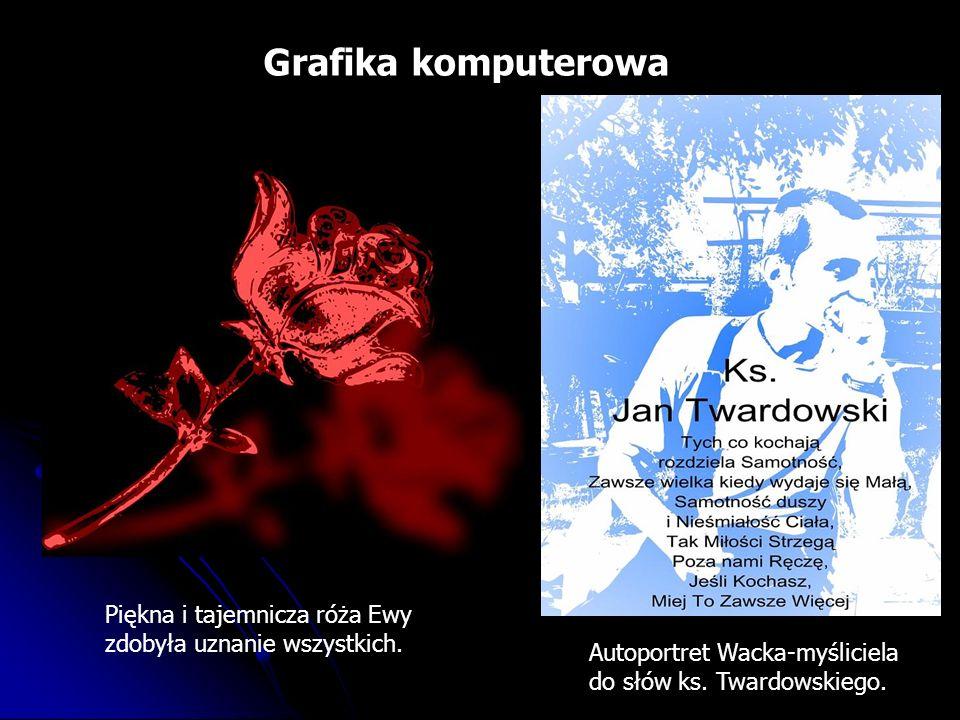 Grafika komputerowa Piękna i tajemnicza róża Ewy zdobyła uznanie wszystkich.
