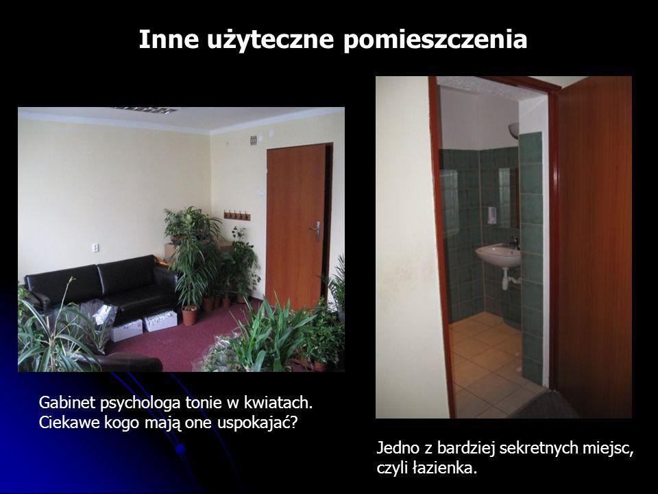 Inne użyteczne pomieszczenia Jedno z bardziej sekretnych miejsc, czyli łazienka.