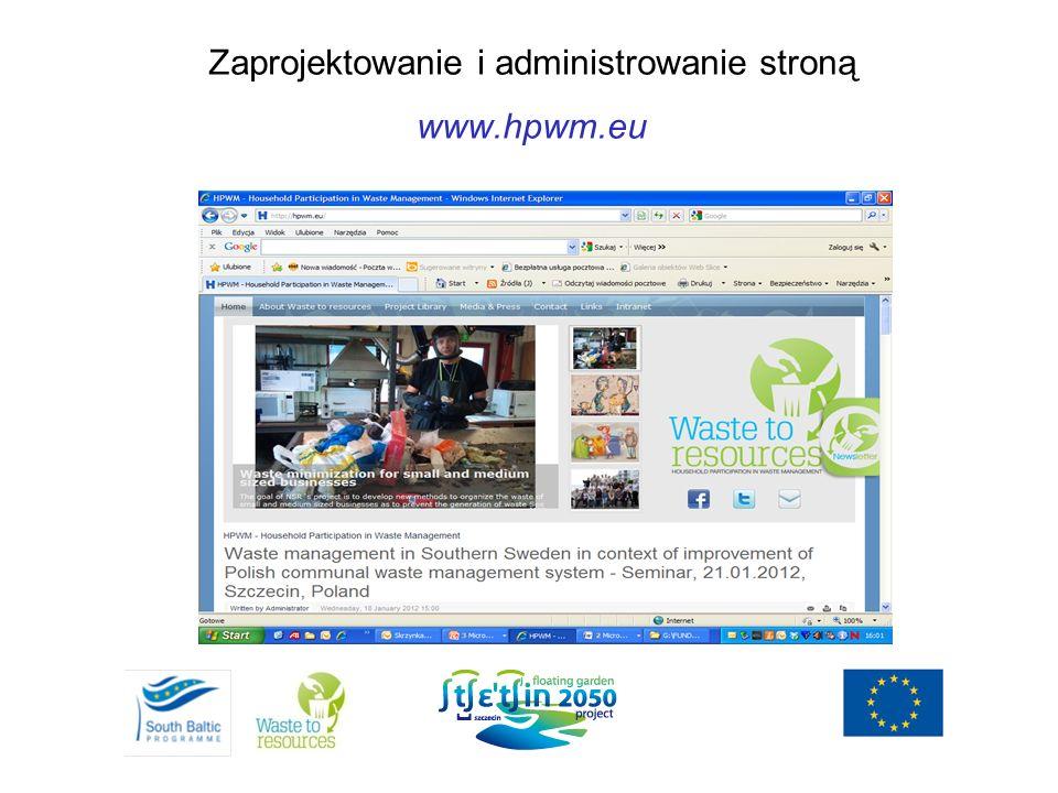 Zaprojektowanie i administrowanie stroną www.hpwm.eu