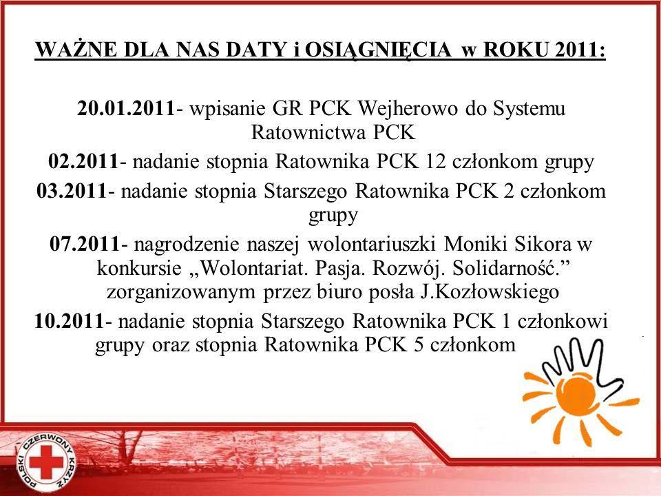 Fot. luty 2011- uroczystość wręczenia stopni Ratownika PCK