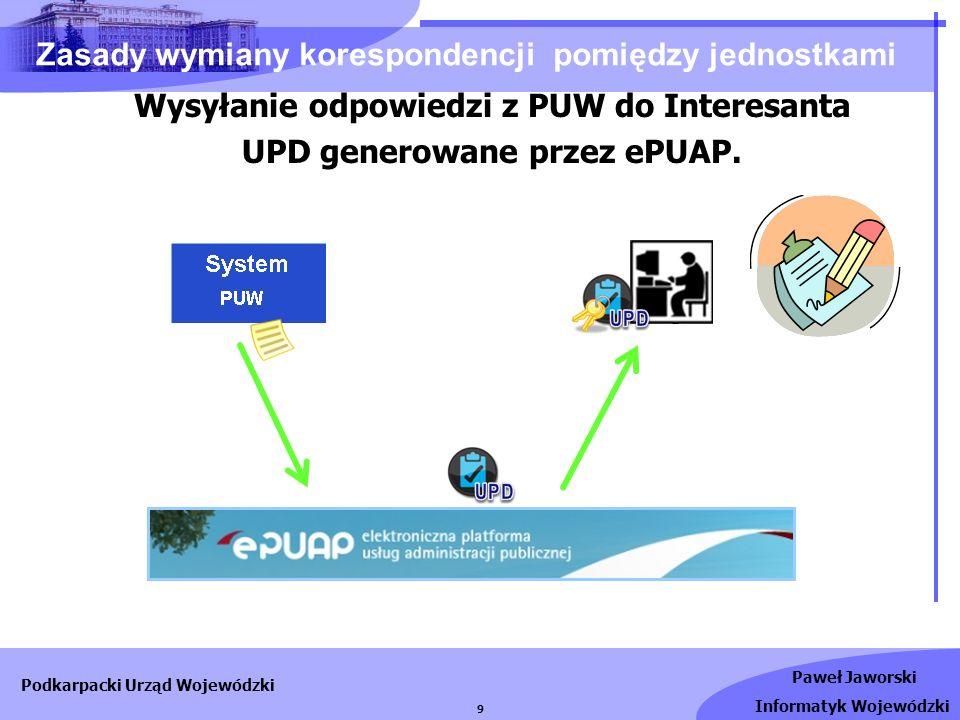 Paweł Jaworski Informatyk Wojewódzki Podkarpacki Urząd Wojewódzki 10 - rejestracja w portalu ePUAP (użytkownik).