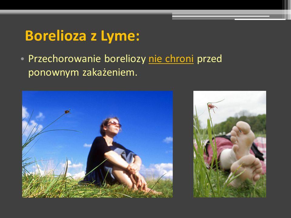 Borelioza z Lyme: Przechorowanie boreliozy nie chroni przed ponownym zakażeniem.