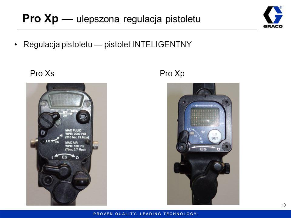 Pro Xp ulepszona regulacja pistoletu 10 Regulacja pistoletu pistolet INTELIGENTNY Pro XsPro Xp