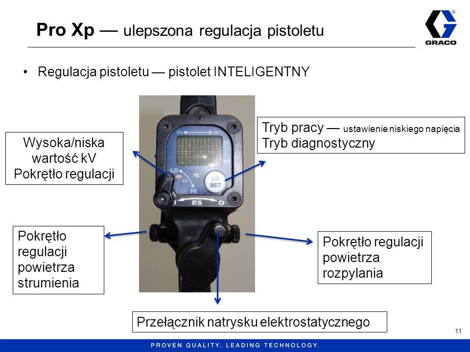 Pro Xp ulepszona regulacja pistoletu 11 Regulacja pistoletu pistolet INTELIGENTNY Pokrętło regulacji powietrza strumienia Pokrętło regulacji powietrza