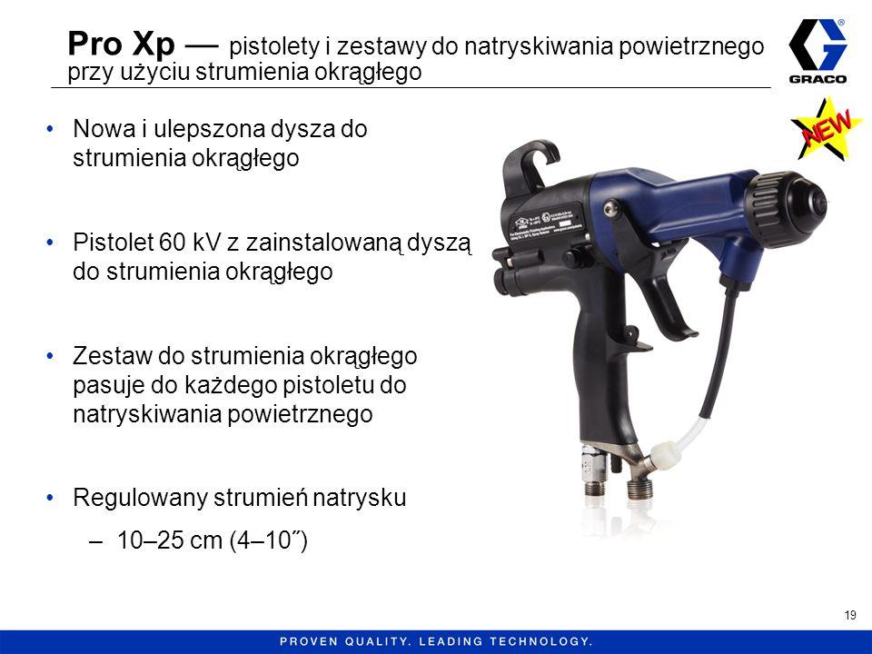 Pro Xp pistolety i zestawy do natryskiwania powietrznego przy użyciu strumienia okrągłego Nowa i ulepszona dysza do strumienia okrągłego Pistolet 60 k