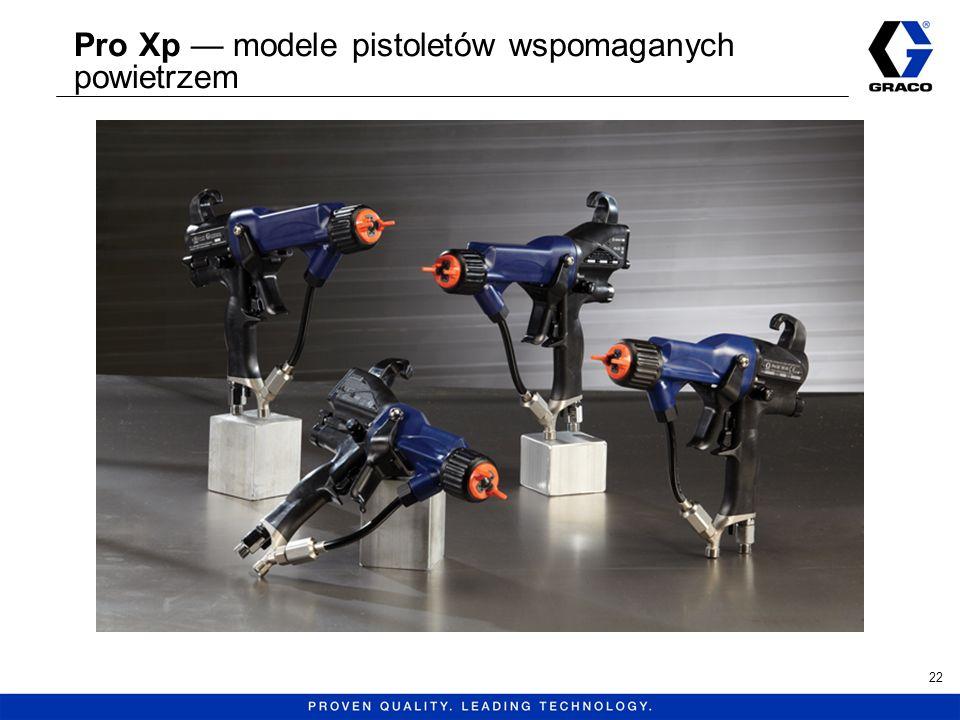 Pro Xp modele pistoletów wspomaganych powietrzem 22
