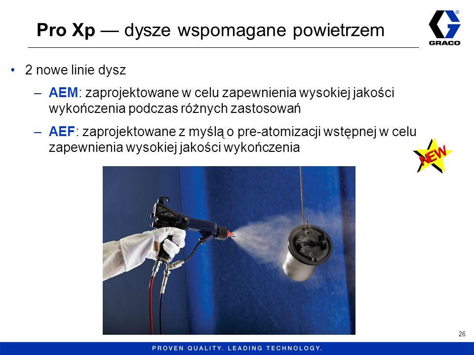 Pro Xp dysze wspomagane powietrzem 26 2 nowe linie dysz –AEM: zaprojektowane w celu zapewnienia wysokiej jakości wykończenia podczas różnych zastosowa