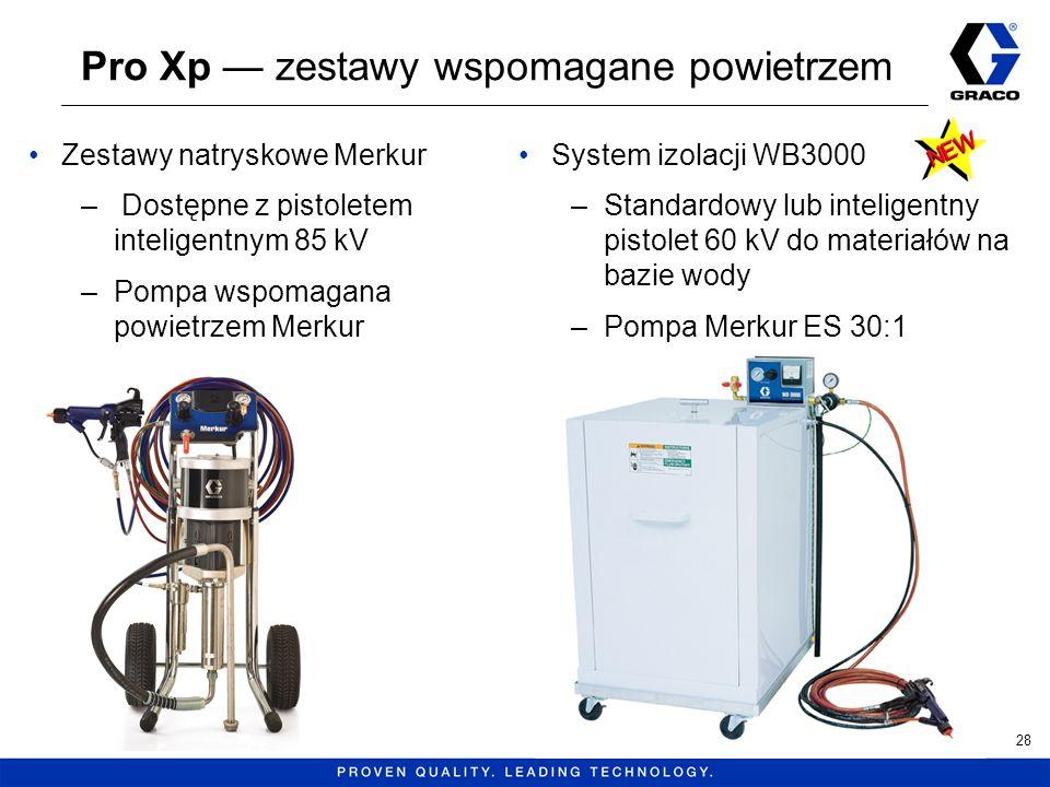 Pro Xp zestawy wspomagane powietrzem Zestawy natryskowe Merkur – Dostępne z pistoletem inteligentnym 85 kV –Pompa wspomagana powietrzem Merkur System
