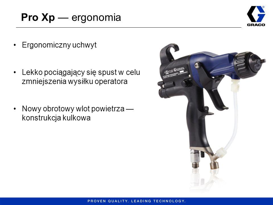 Pro Xp ergonomia 6 Ergonomiczny uchwyt Lekko pociągający się spust w celu zmniejszenia wysiłku operatora Nowy obrotowy wlot powietrza konstrukcja kulk