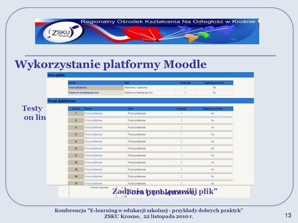 Wykorzystanie platformy Moodle Konferencja