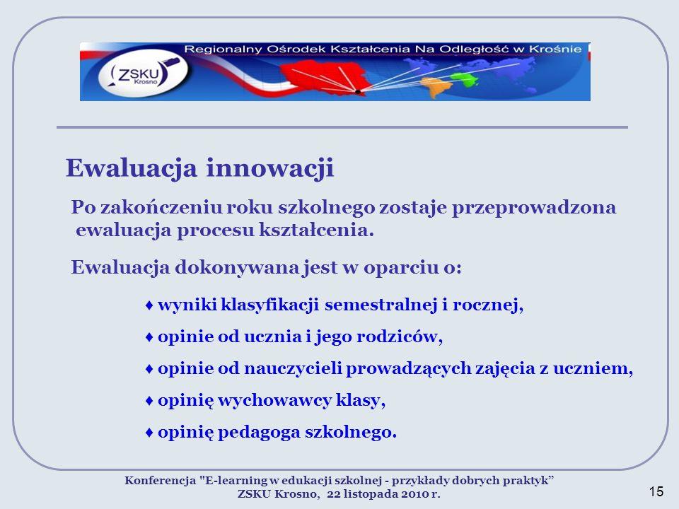 Ewaluacja innowacji Konferencja