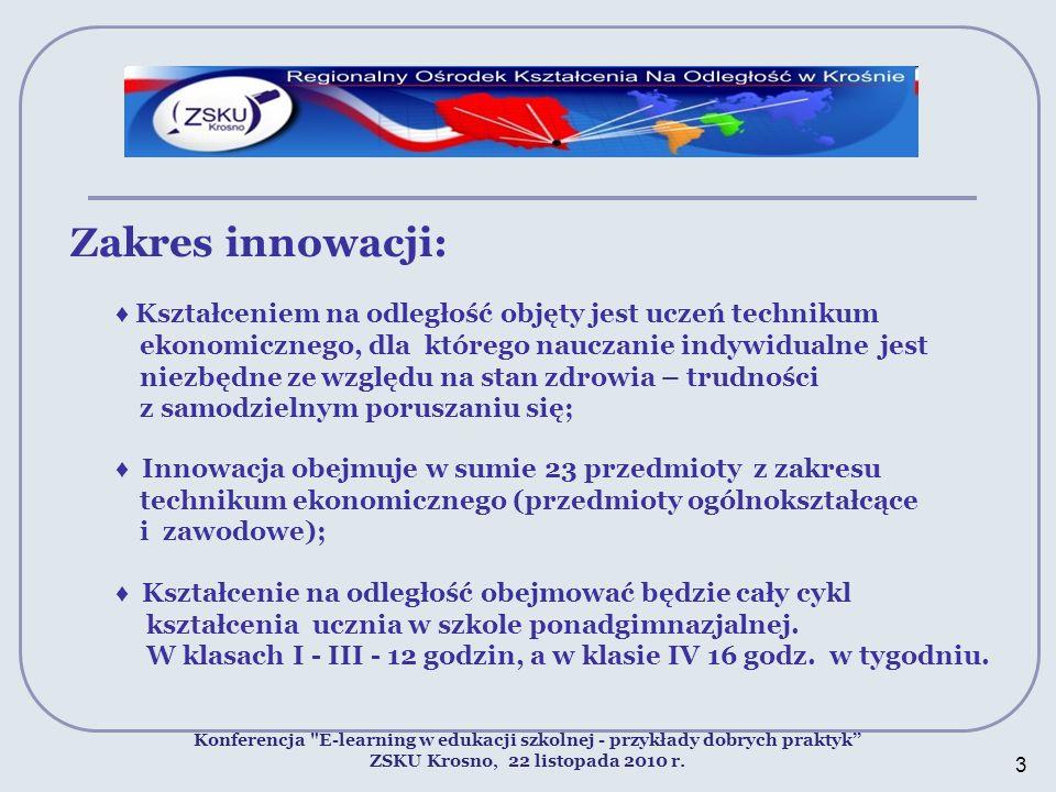 Zakres innowacji: Konferencja