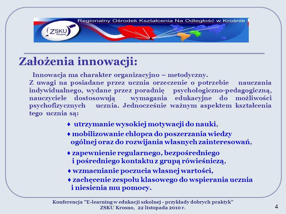 Założenia innowacji: Konferencja