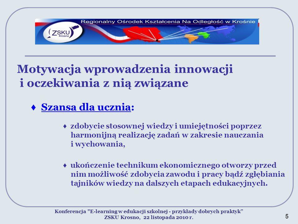 Motywacja wprowadzenia innowacji i oczekiwania z nią związane Konferencja