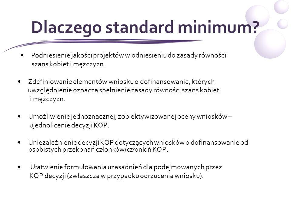 Standard minimum 1.