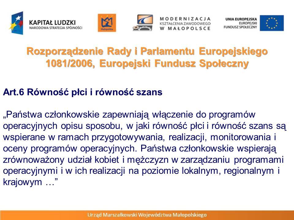 Rozporządzenie Rady i Parlamentu Europejskiego 1081/2006, Europejski Fundusz Społeczny Wstęp – pkt.