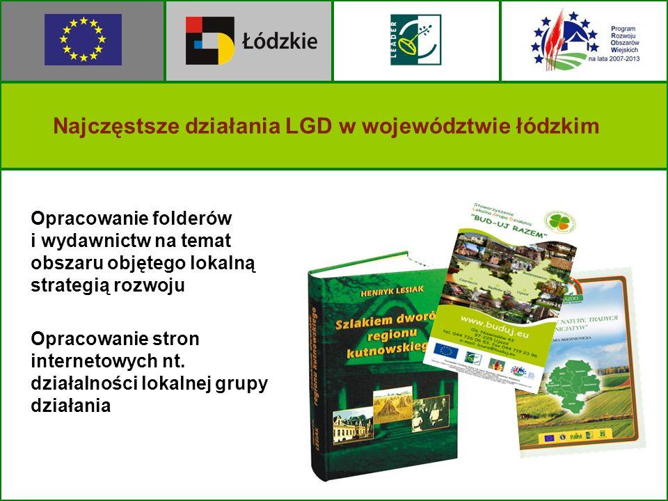 Opracowanie folderów i wydawnictw na temat obszaru objętego lokalną strategią rozwoju Opracowanie stron internetowych nt. działalności lokalnej grupy