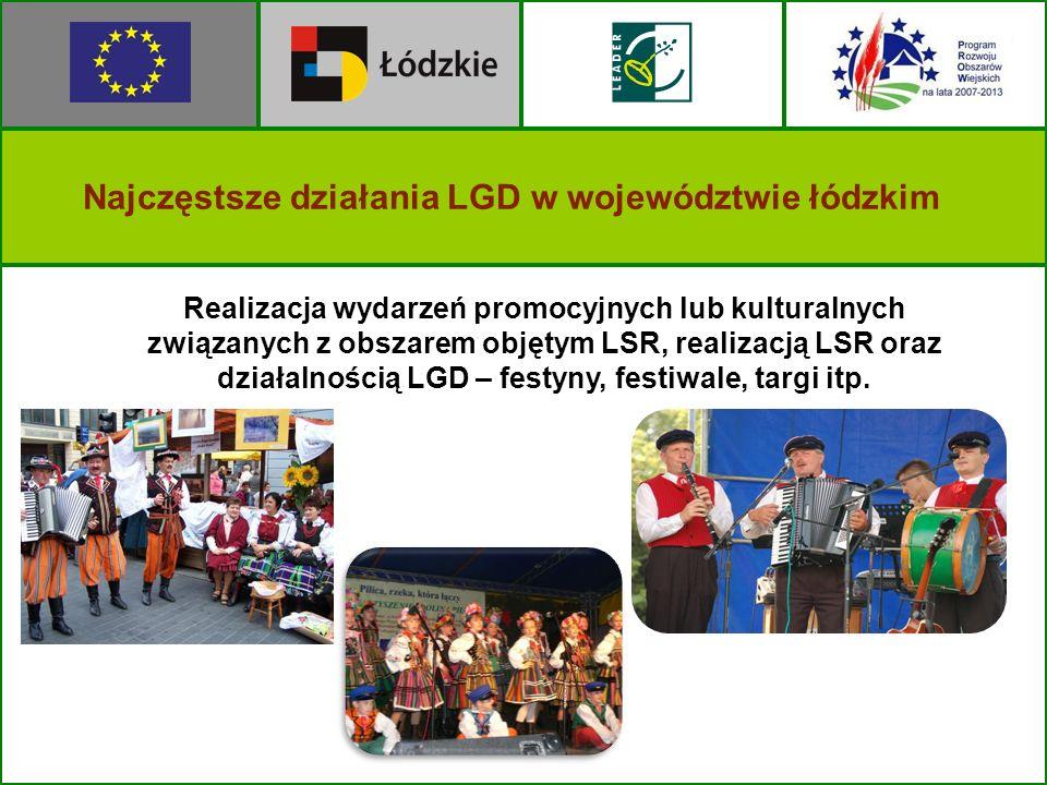 Realizacja wydarzeń promocyjnych lub kulturalnych związanych z obszarem objętym LSR, realizacją LSR oraz działalnością LGD – festyny, festiwale, targi