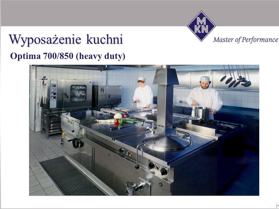 Optima 700/850 (heavy duty) Wyposażenie kuchni