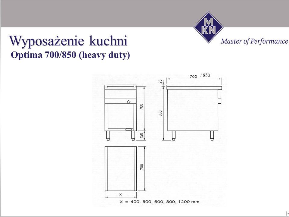 / 850 Optima 700/850 (heavy duty) Wyposażenie kuchni