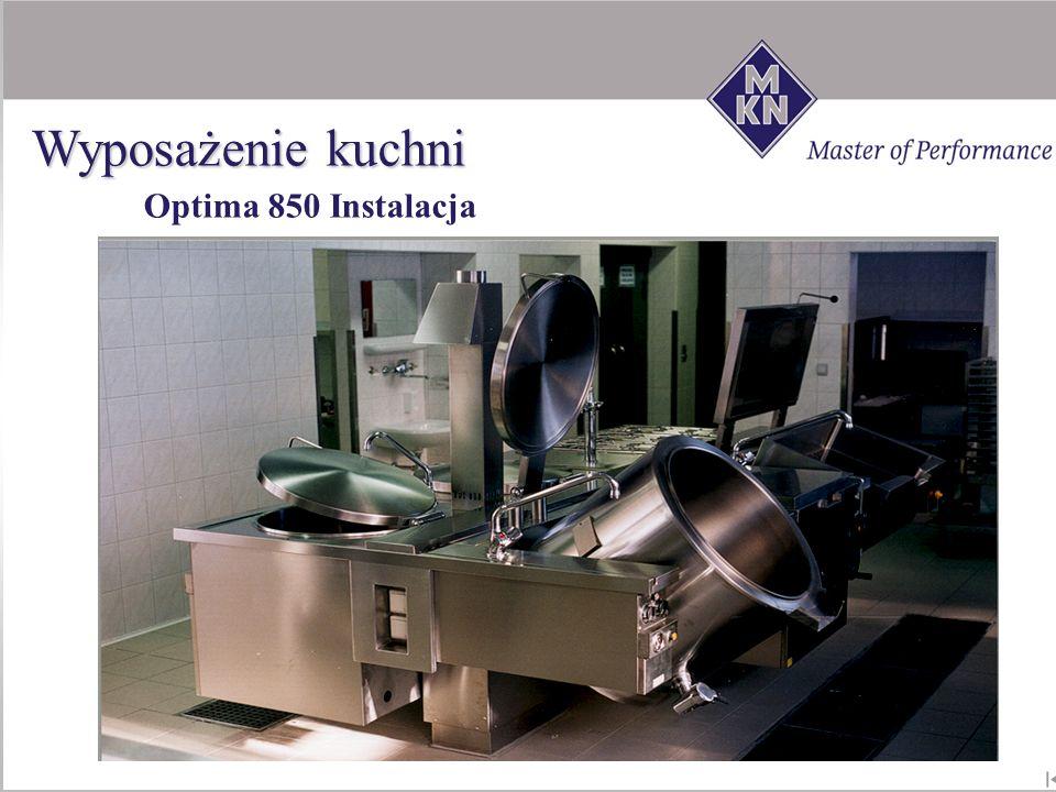 Optima 850 Instalacja Wyposażenie kuchni
