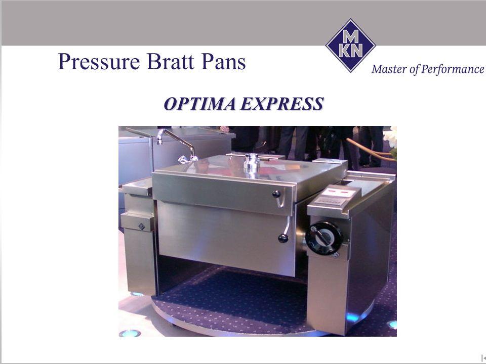 OPTIMA EXPRESS ! NEW ! Pressure Bratt Pans