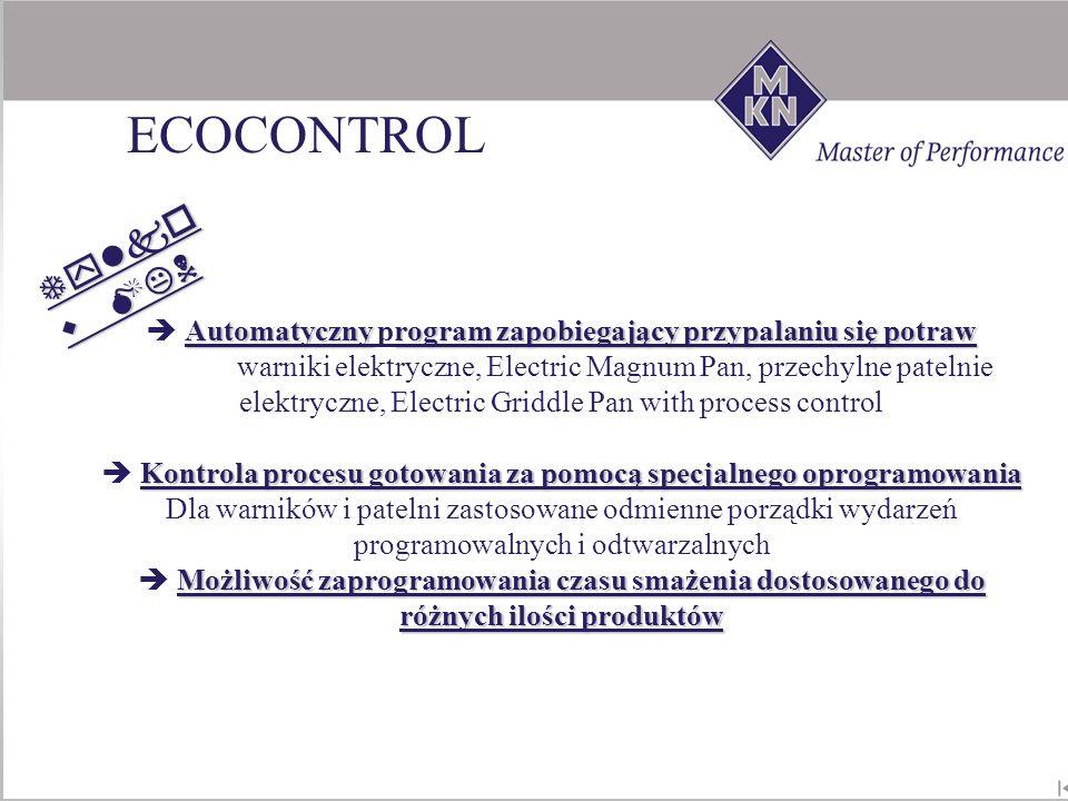 Automatycznyrogram zapobiegający przypalaniu się potraw Automatyczny program zapobiegający przypalaniu się potraw warniki elektryczne, Electric Magnum