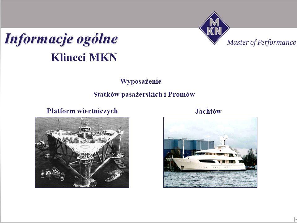 Klineci MKN Wyposażenie Jachtów Platform wiertniczych Statków pasażerskich i Promów Informacje ogólne
