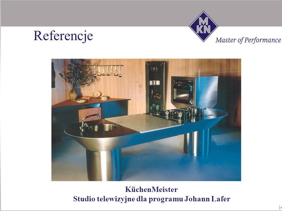 KüchenMeister Studio telewizyjne dla programu Johann Lafer Referencje