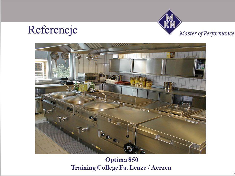 Optima 850 Training College Fa. Lenze / Aerzen Referencje
