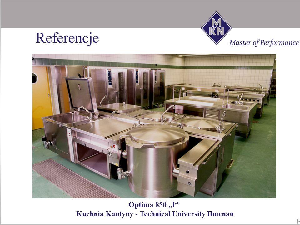 Optima 850 I Kuchnia Kantyny - Technical University Ilmenau Referencje
