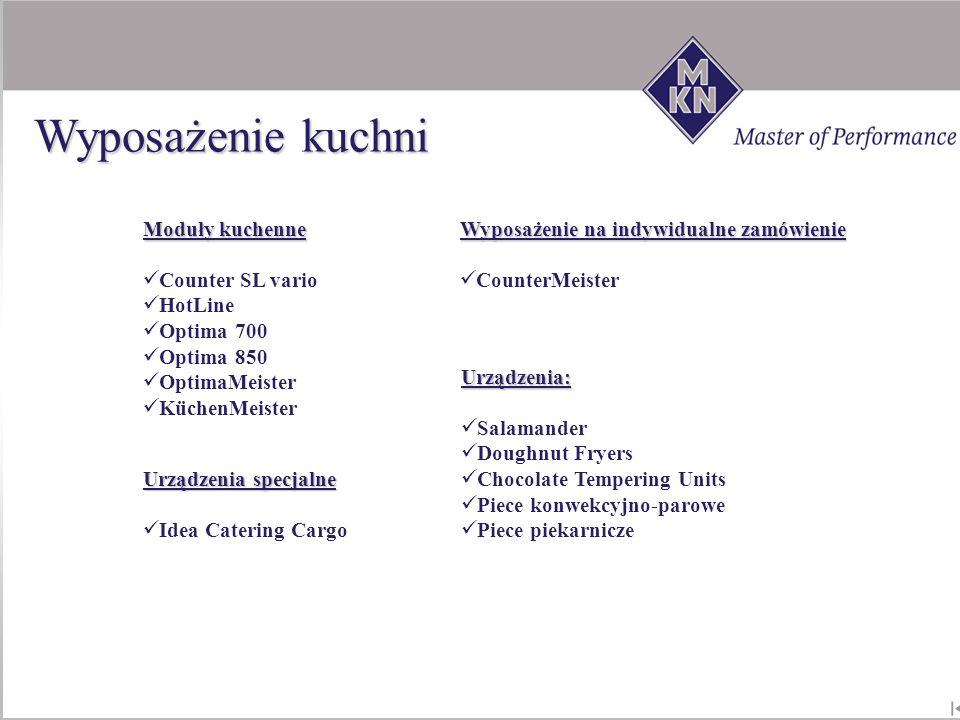 Moduły kuchenne Counter SL vario HotLine Optima 700 Optima 850 OptimaMeister KüchenMeister Wyposażenie na indywidualne zamówienie CounterMeister Urząd