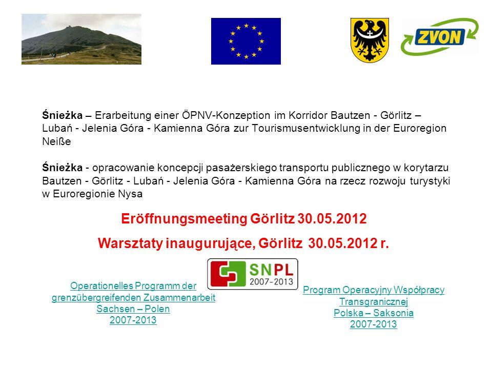 Śnieżka – Erarbeitung einer ÖPNV-Konzeption im Korridor Bautzen - Görlitz – Lubań - Jelenia Góra - Kamienna Góra zur Tourismusentwicklung in der Euror