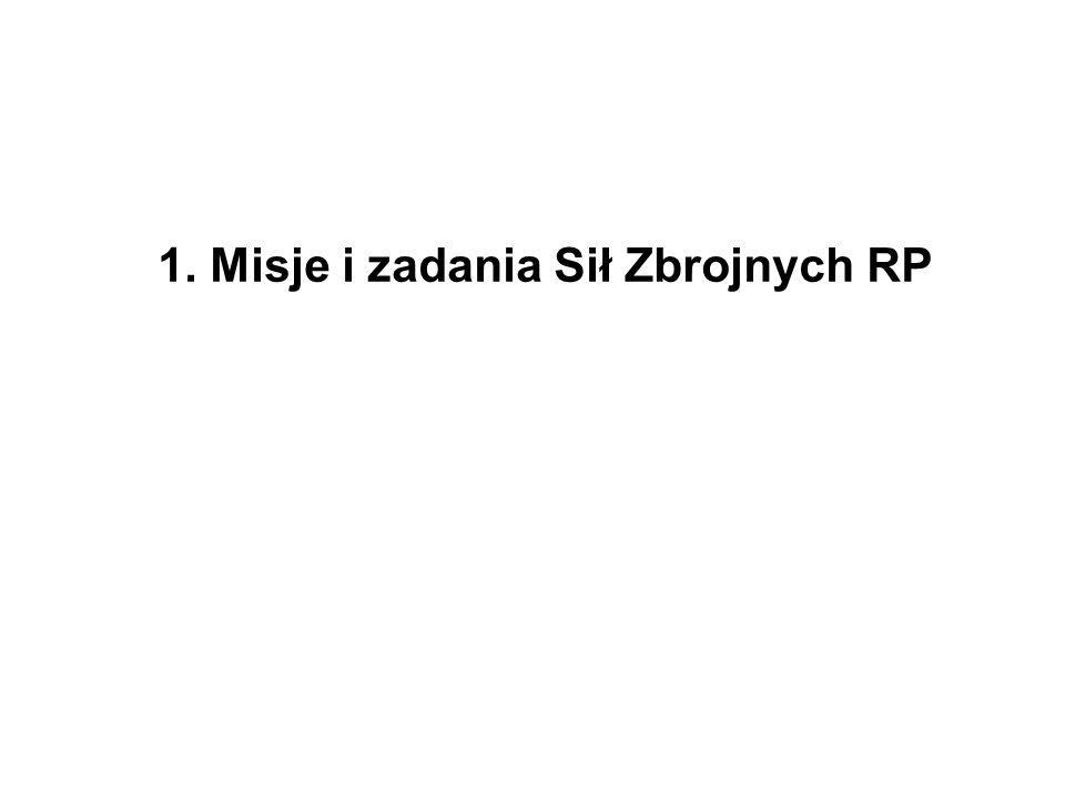 1. Misje i zadania Sił Zbrojnych RP