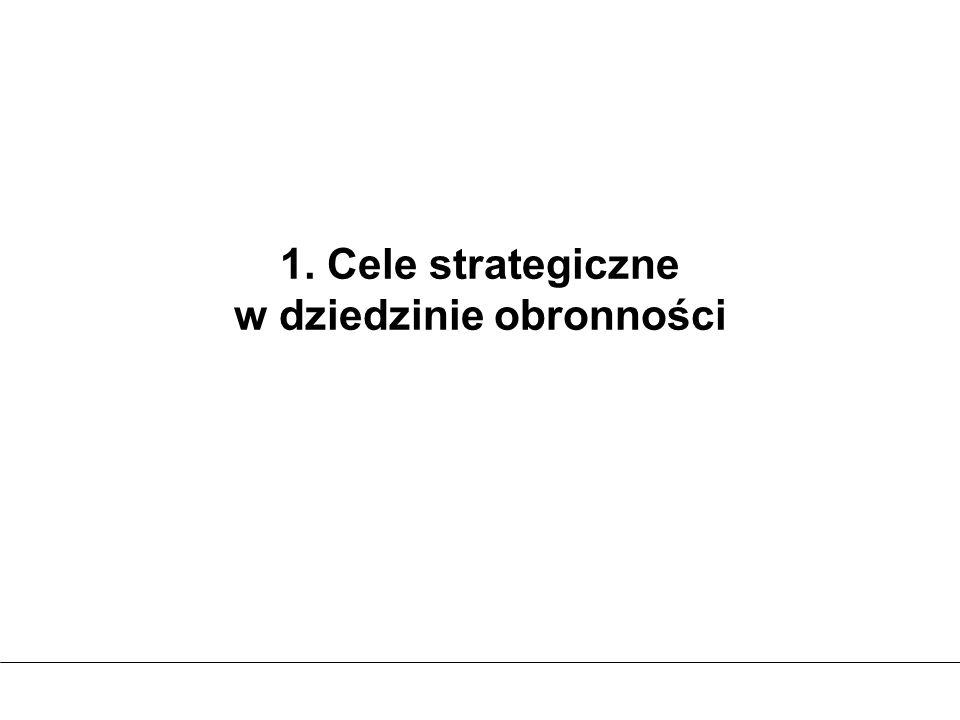1. Cele strategiczne w dziedzinie obronności
