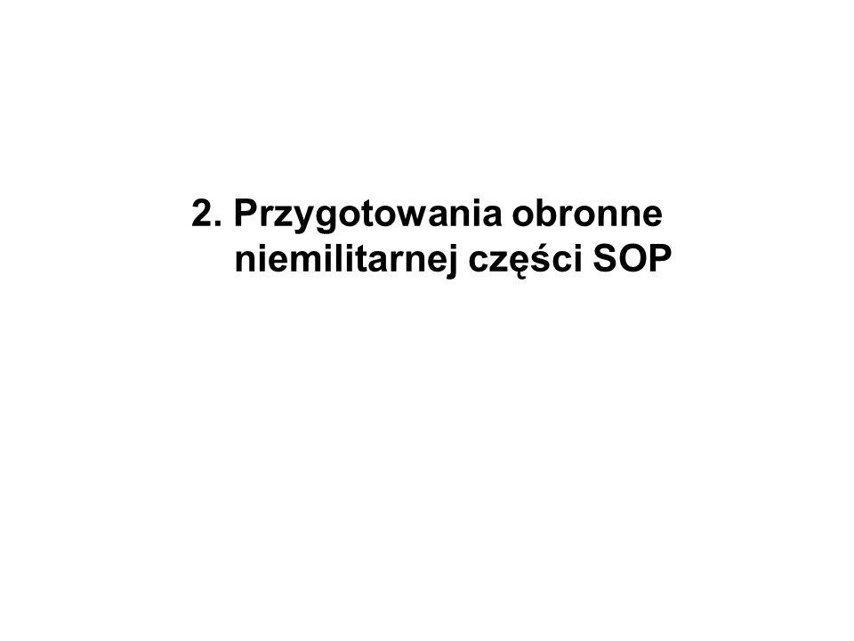 2. Przygotowania obronne niemilitarnej części SOP