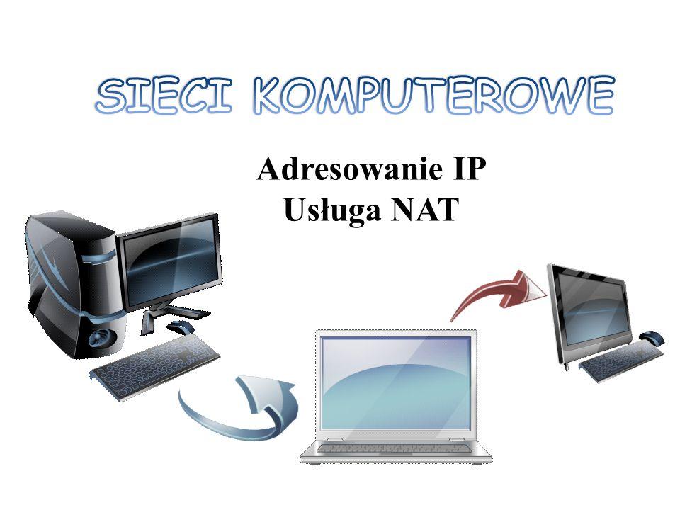 Adresowanie IP Usługa NAT