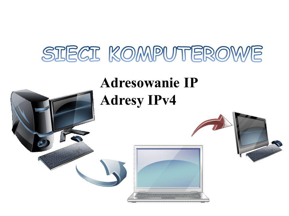 Wstęp Adres IPv4 ma zawsze długość 32-bitów.