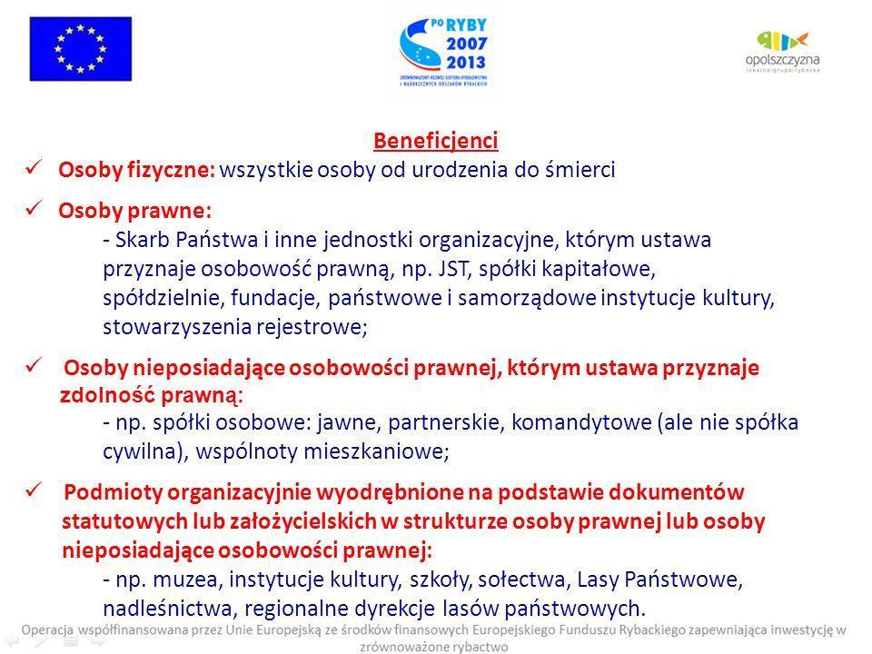 CEL OGÓLNY I : Rozwój sektora rybackiego na terenie LGR Opolszczyzna CELE SZCZEGÓŁOWE I.1.