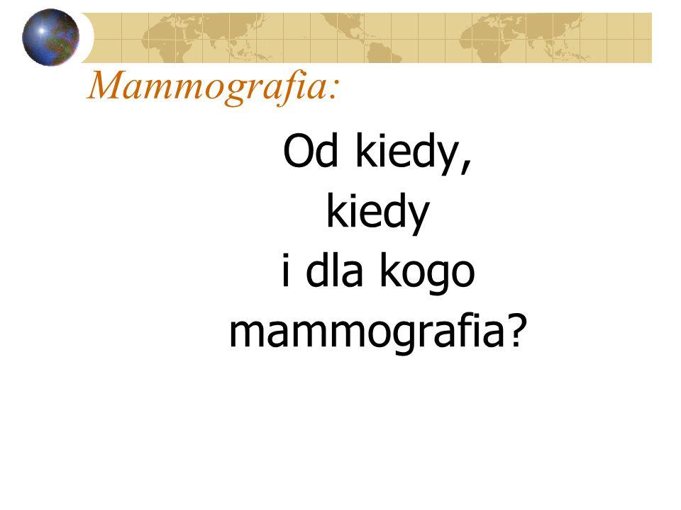 Od kiedy, kiedy i dla kogo mammografia?